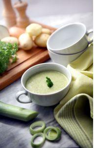 Frio e sopa - batata e alho poró.