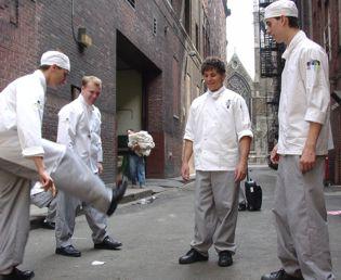 Recepcionando os alunos, precisa-se de um chef!